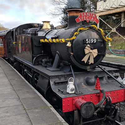 This is the Llangollen Santa train, I couldn't find a picture of the Royden Park one.